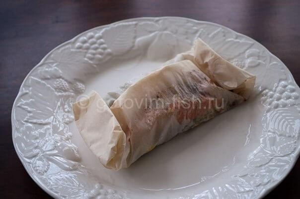 лосось запеченный в пергаменте