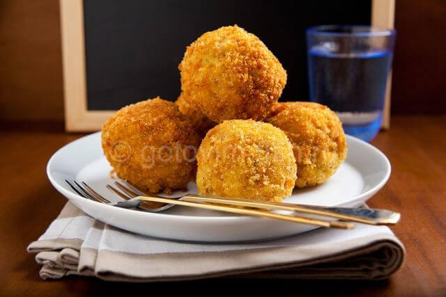 крокеты из трески и картофеля