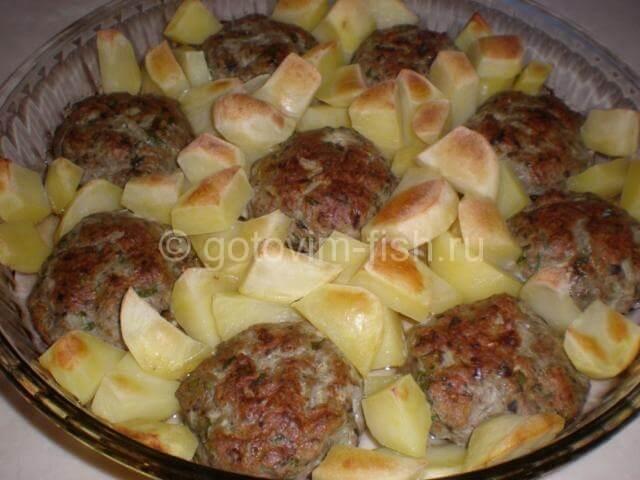 рецепт котлет запеченных в духовке с картошкой