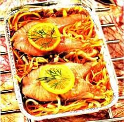 лосось запеченный в микроволновке