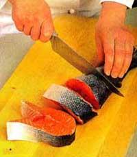 стейки лосося