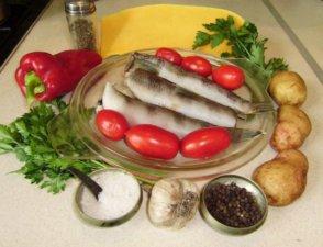 Нототения с овощами для запекания