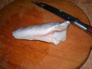 Удаление внутринностей у рыбы