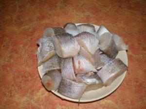 Порционные кусочки рыбы