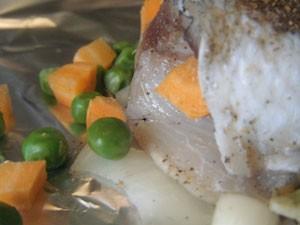 овощи с рыбой