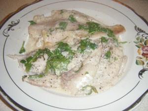 пангасиус под соусом
