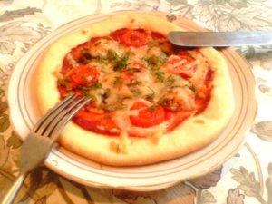 Маленькая пицца с мидиями