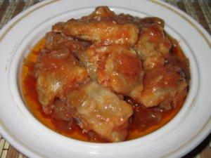 Вкусная путассу в томатной подливке