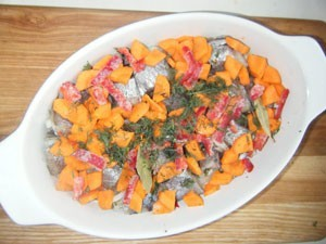 рыба с морковью