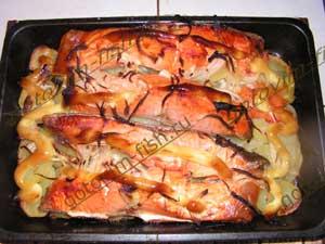 семга запеченная с картошкой