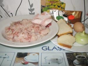 Продукты для рыбных котлет