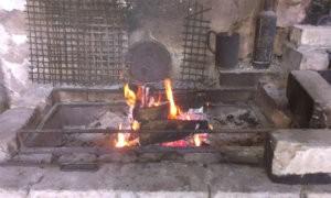 Огонь в мангале