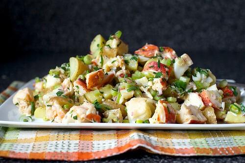 Салат из раков и овощей