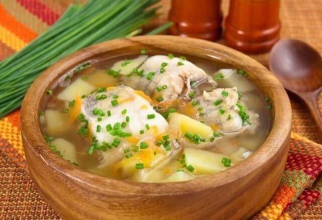 Суп картофельный с налимом