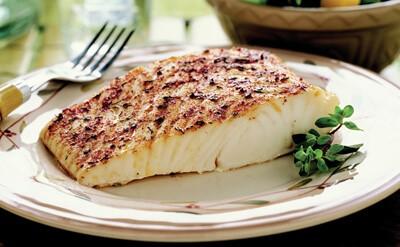 рыба жареная с петрушкой