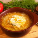 Суп с осетровой рыбой и квашеной капустой