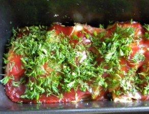 Запеченная рыба под соусом