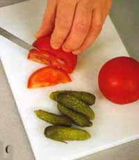 украшения из огурцов и помидор