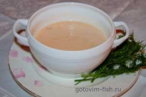 Суп-пюре из семги