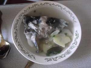 Суп из сомовых голов