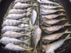Обжаривание рыбы с 2-х сторон