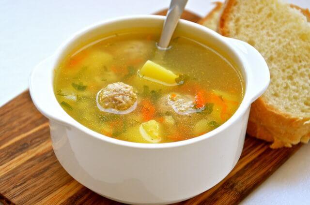 Суп с рыбными фрикадельниками