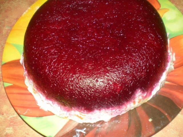 Красивый торт-шуба