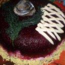 Салат шуба в виде торта