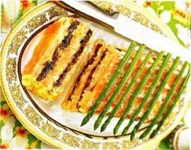 Рыбный торт с черносливом