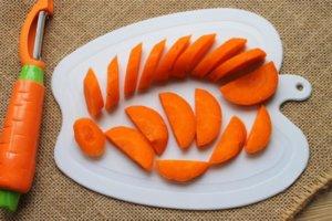 Нарезка моркови для ухи