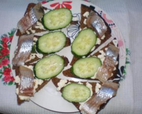 Бутерброды с сельдью по-волынски