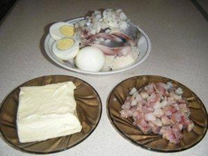 Подготовка продуктов для форшмака