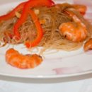 Фунчеза с креветками