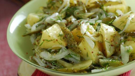 Салат их хека и картошки