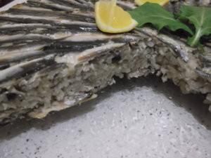 Кусочек турецкого плова с рыбой
