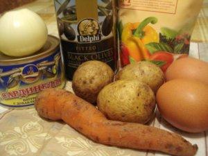 Продукты для салата рыбка