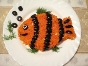 Салат рыбка для детей