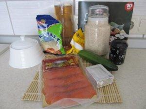 Продукты для приготовления роллов