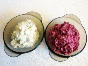 Свекла и картофель для салата