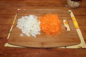 Лук и морковь для супа