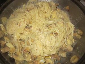Спагетти с рапанами