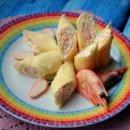 Рулетики сырные с креветками