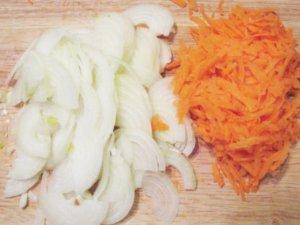 Подготовка овощей к тушению