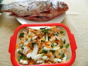 Рыба и овощи для запекания
