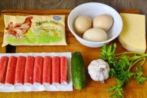 Продукты для салата из крабовых палочек