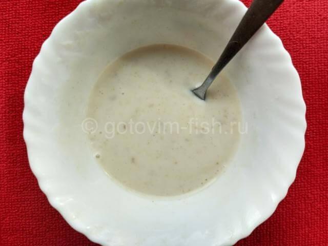 Заправка для салата из йогурта