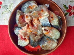 Рыба под соусом табаско